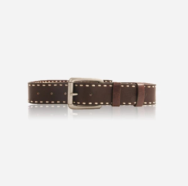 Jekyll And Hide Buffalo Men's Stitch Belt Size 44 Brown