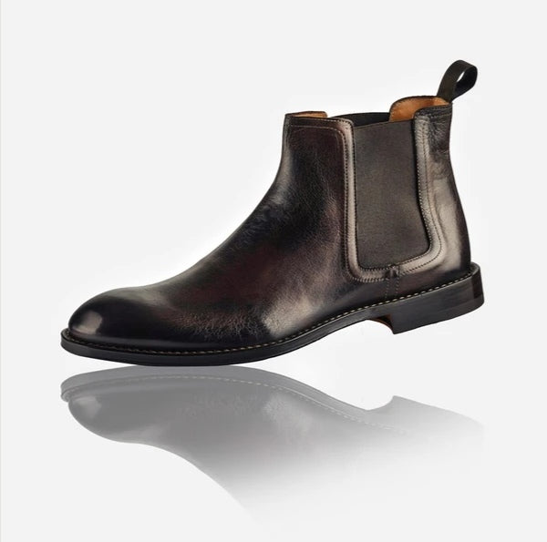 Jekyll And Hide Napoli Men's Leather Chelsea Boot Brown