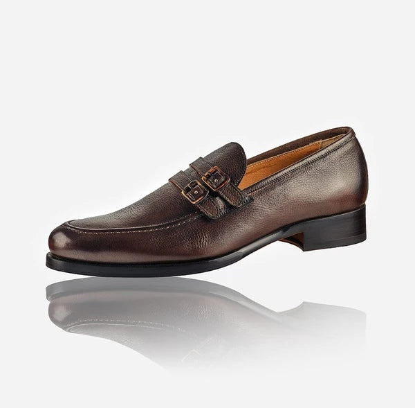 Jekyll And Hide Napoli Men's Leather Monk Shoe Brown