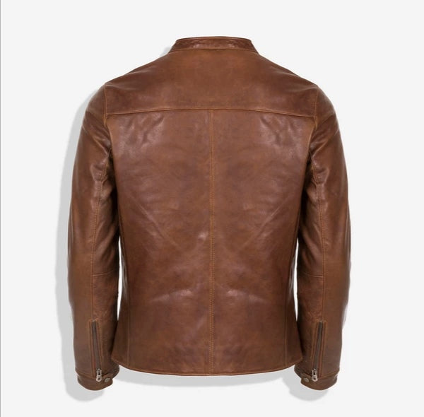 Jekyll And Hide Jackson Standing Collar Bomber Brown