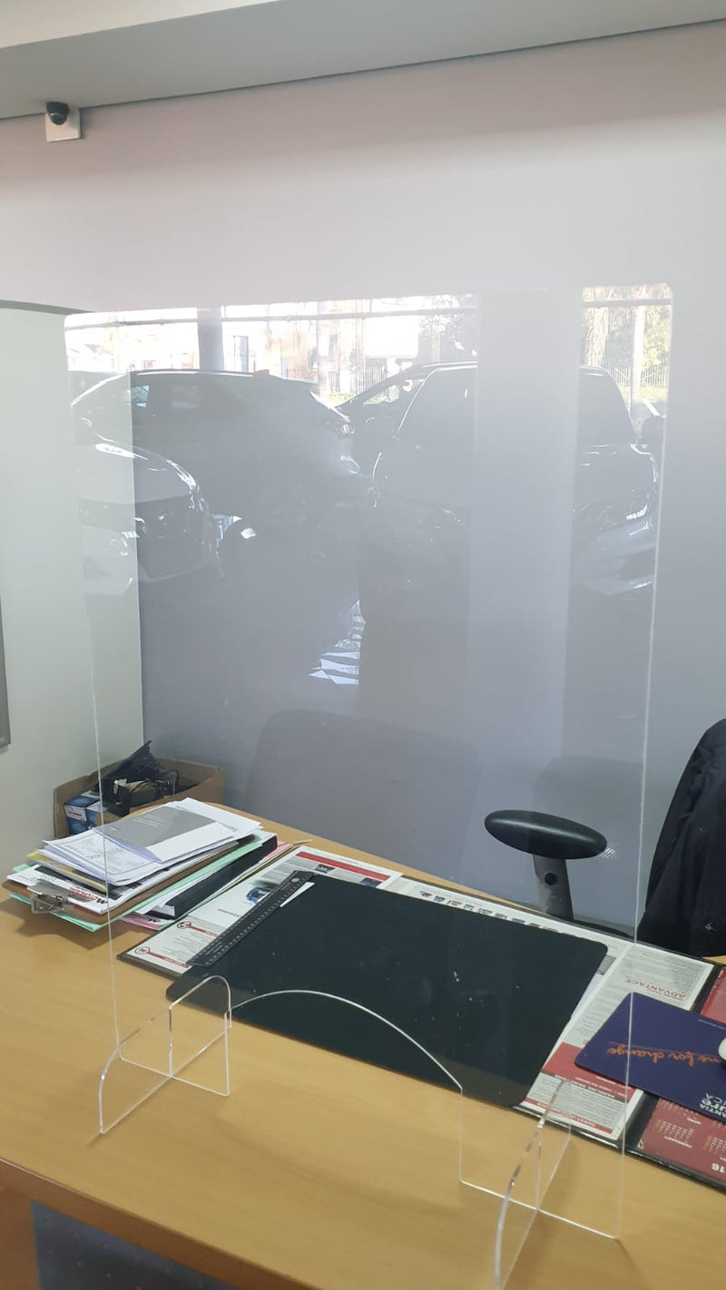 Counter Screen 850mm x 600mm 4mm Plexi