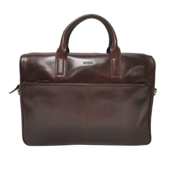 "Busby Johnson 15"" Laptop Leather Briefcase"
