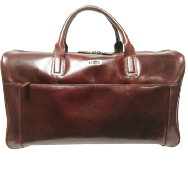 Busby Leather Johnson Weekender Duffle/Doctors Bag