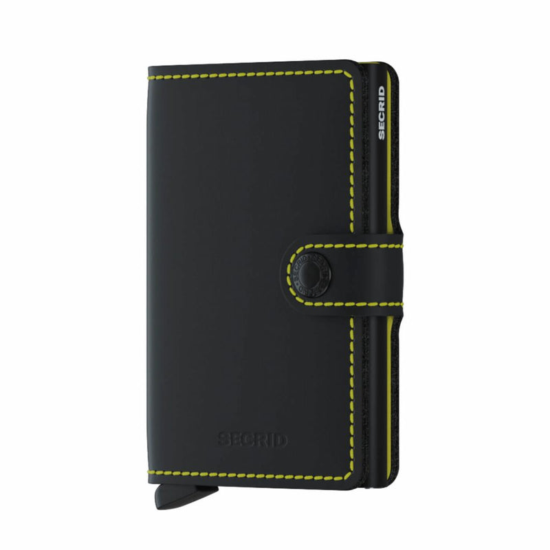 Secrid Matte Mini Wallet Black & Yellow