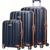 Samsonite Lite Cube DLX Set of 3 Midnight Blue