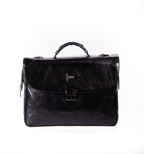 Busby Emirico 3 Compartment Folio Bag Black