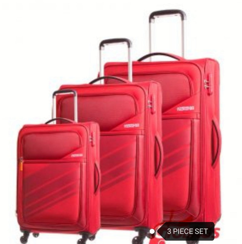 American Tourister Stirling 3 Piece Set Red