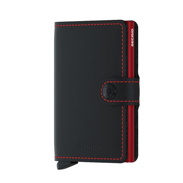 Secrid Matte Mini Wallet Black & Red