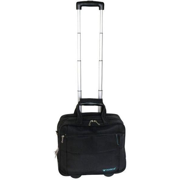 "Tosca Executive 15.6"" Laptop Trolley Case Black"