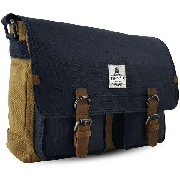 Troop London Messenger Bag | Navy/Mustard
