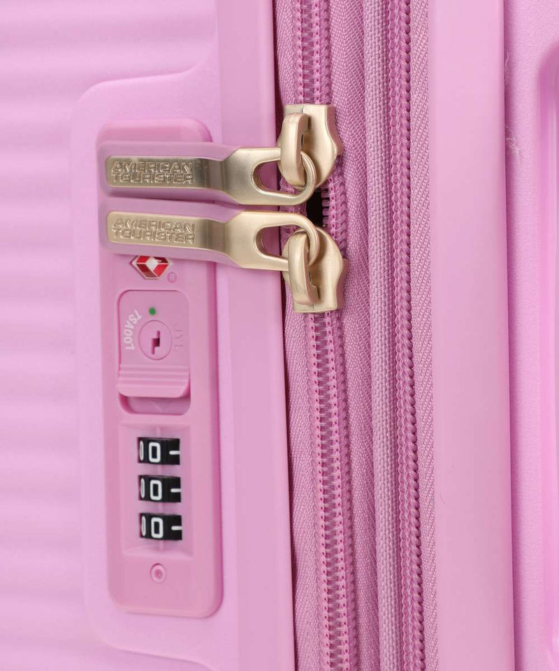American Tourister Soundbox Expandable 67cm Pink/Gold