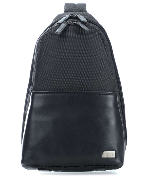 Brics Monza Sling bag leather, nylon black