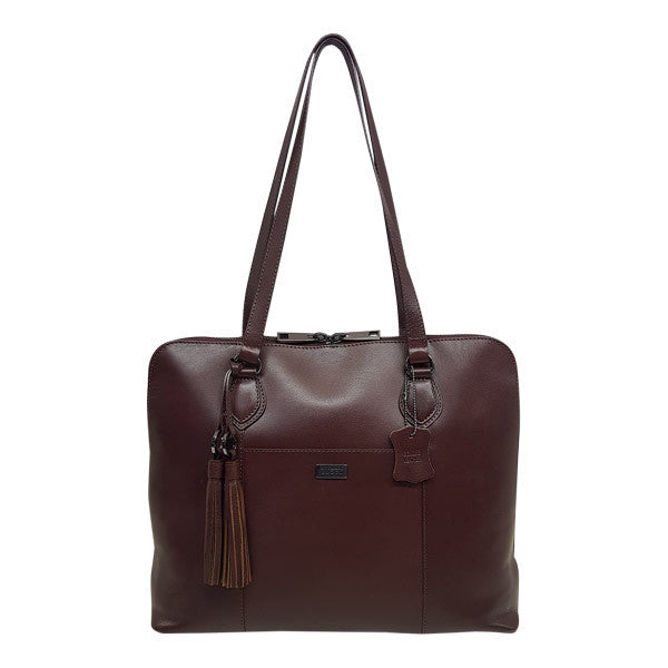 Busby Ladies Slimline Laptop Bag Brown