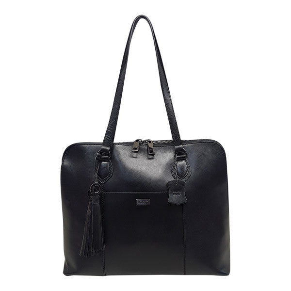 Busby Ladies Slimline Laptop Bag Black