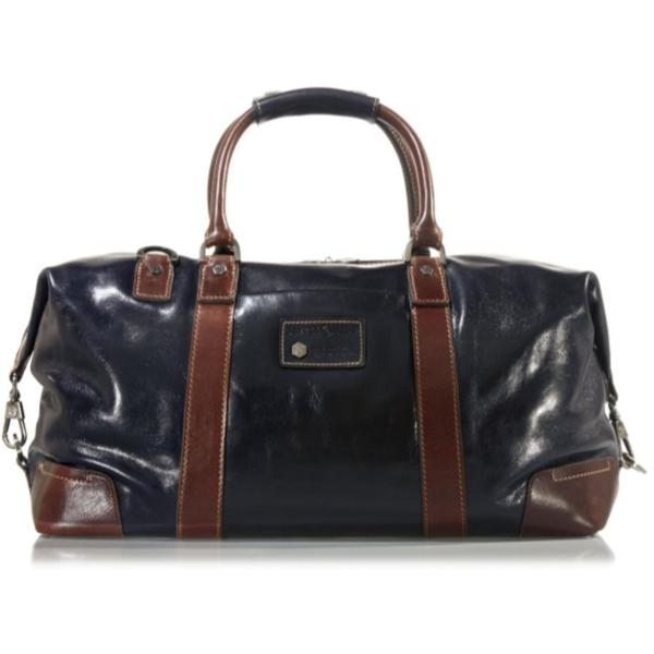 Jekyll & Hide Oxford Leather Duffel Bag Two-Tone