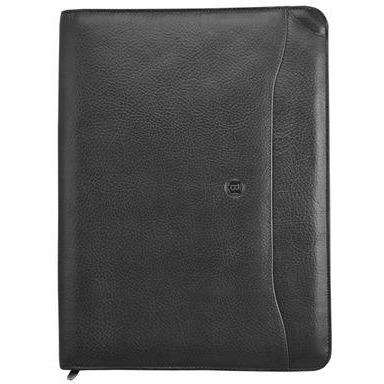 Busby Premier A4 Zipper Folder Black