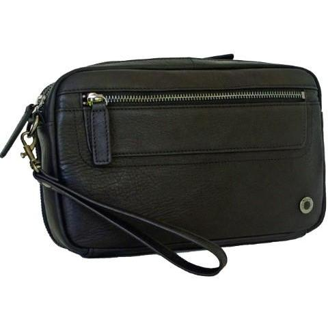 Gino De Vinci Colombia Men's Leather Utility Bag Black