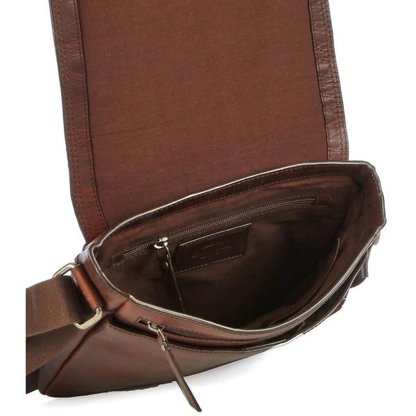 Cellini Woodbridge Large Crossover Sling Bag Brown