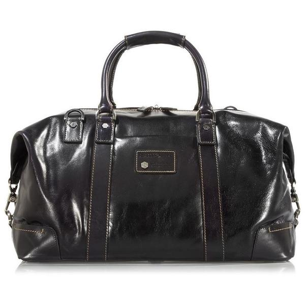 Jekyll & Hide Oxford Leather Duffel Bag Black