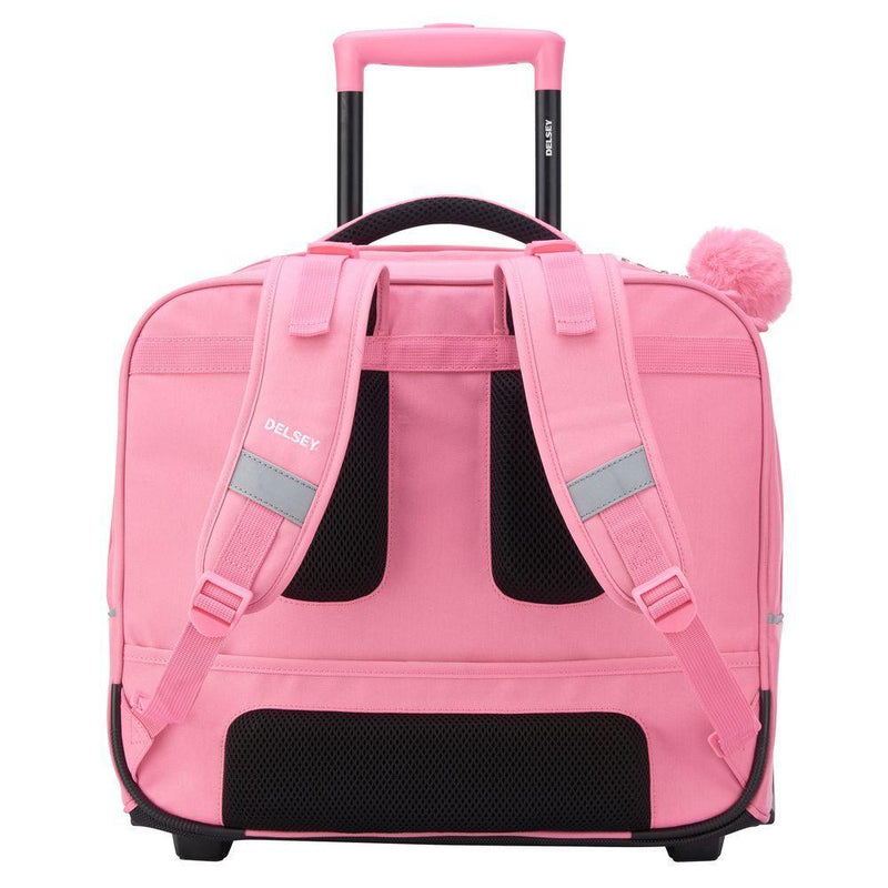 Delsey Back To School Wheeled Backpack Peony