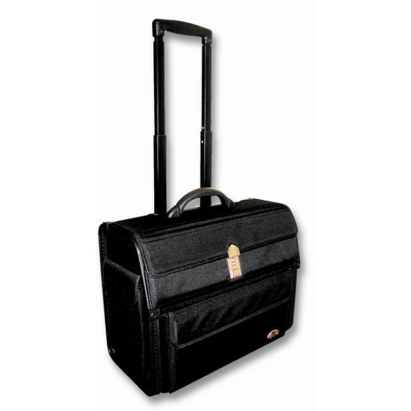 Tosca 17-inch Executive Ko-Skin Computer Trolley Case Black