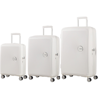American Tourister Soundbox Set of 3 Spinners Pure white