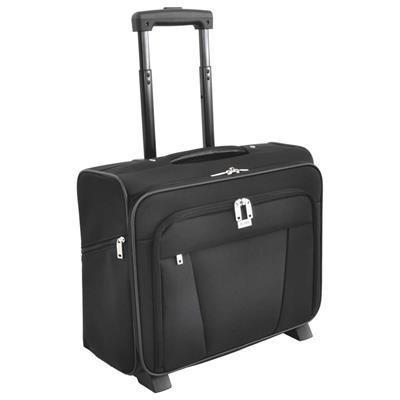 Busby Union Nylon Business Laptop Bag With Wheels Black