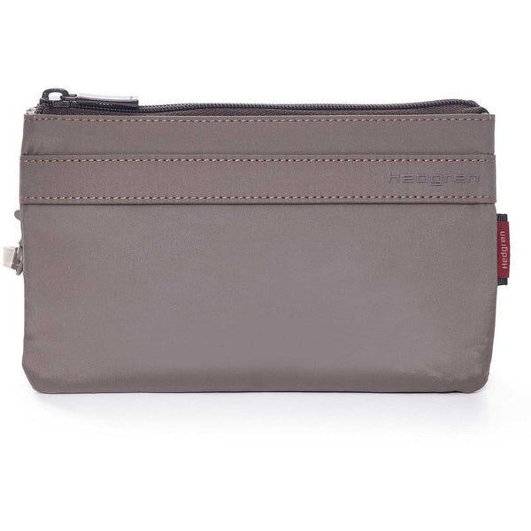Hedgren Folios Large 3 Zipper Pouch w/RFID Sepia