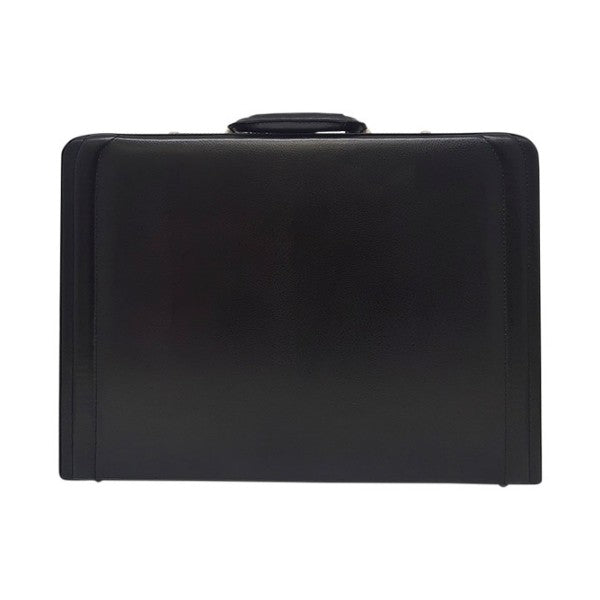 Gino De Vinci Leather Attache Black
