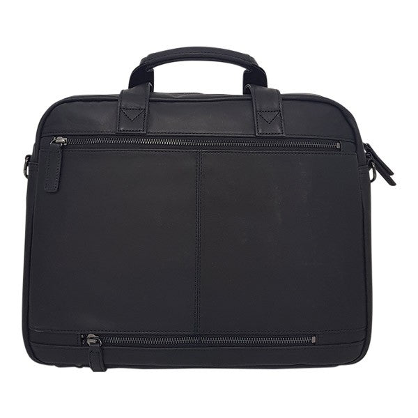 Gino De Vinci Colombian Leather Briefcase Black