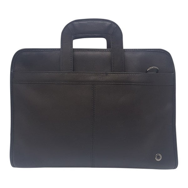 Gino De Vinci Drop Handle Briefcase Black