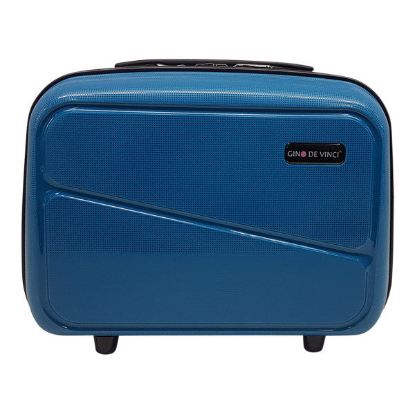 Gino De Vinci Swirl Beauty Case Teal