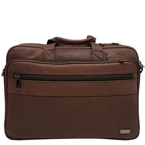 Busby Folio Laptop Bag Brown