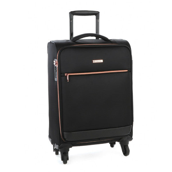 Cellini Allure 4 Wheel Carry On Black
