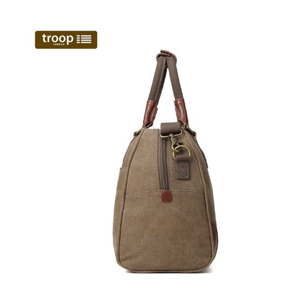Troop London Classic Large Canvas Holdall Brown
