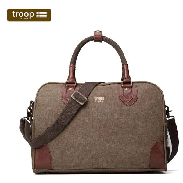 Troop London Classic Canvas Holdall Brown