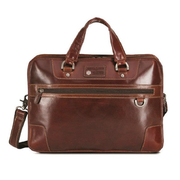 "Jekyll & Hide Oxford 15"" Laptop Briefcase Brown"