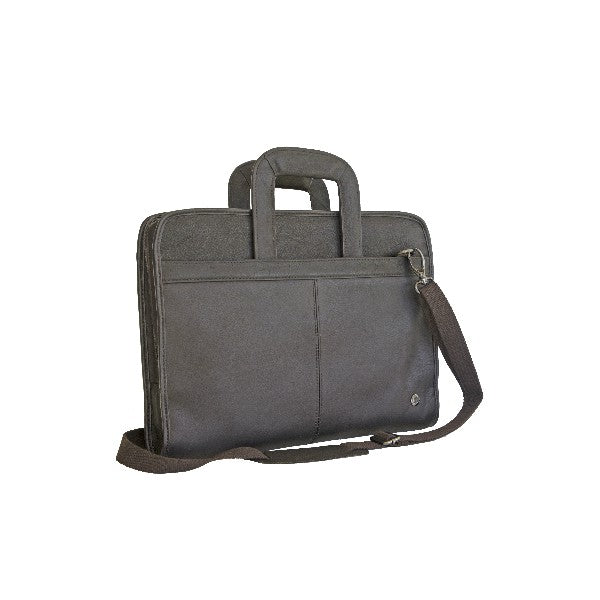Gino De Vinci Drop Handle Briefcase Brown