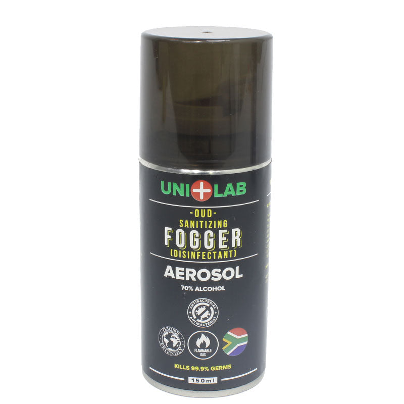 Uni+Lab Fogger Disinfectant Sanitizing Aerosol – Oud – 70% Alcohol – Surface and Air Disinfectant Ozone Friendly – Kills 99.9% Germs