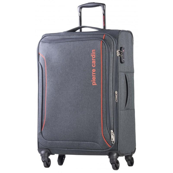 Pierre Cardin Ultralight 4 Wheel 55cm Charcoal