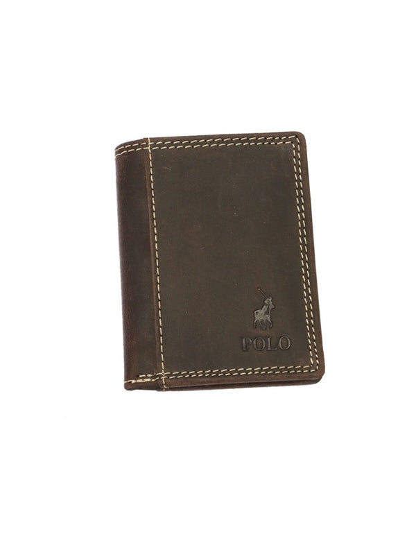 Polo Washed Leather Credit Card Wallet