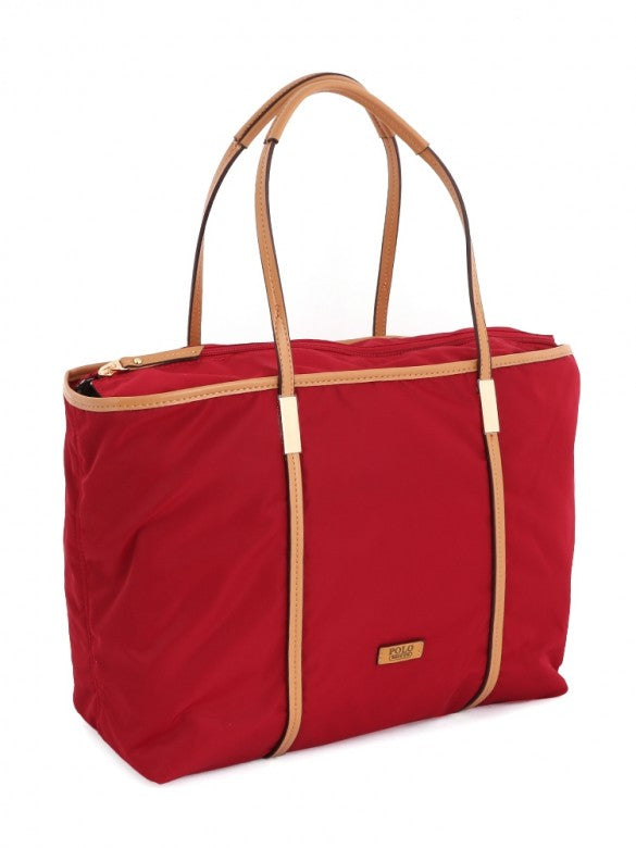 Polo Soho Tote Handbag Red