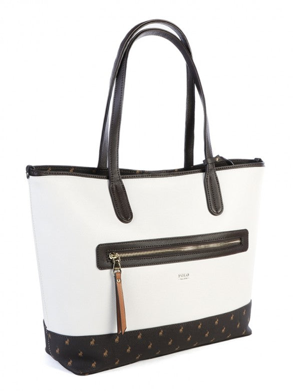 Polo Monticello Carry All Tote Brown/White