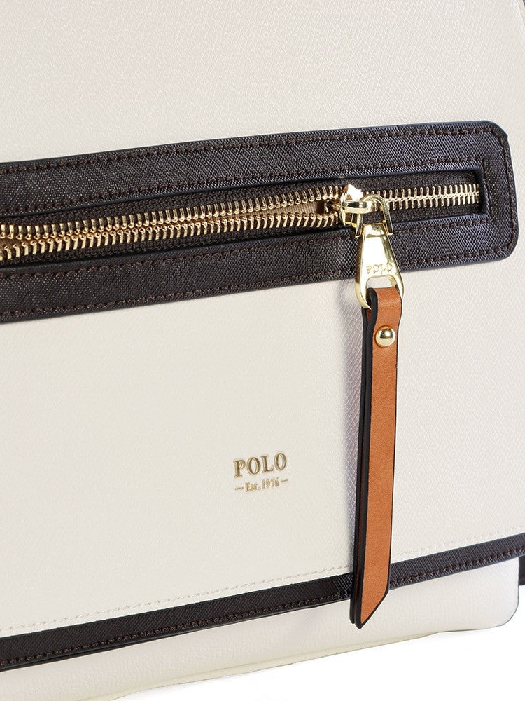 Polo Monticello Flap Over Sling Navy/White
