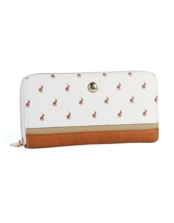 Polo Heritage Zip Around Purse White