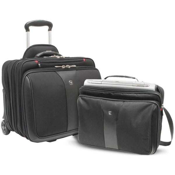Wenger Patriot 2 Pc Wheeled Laptop Case Black