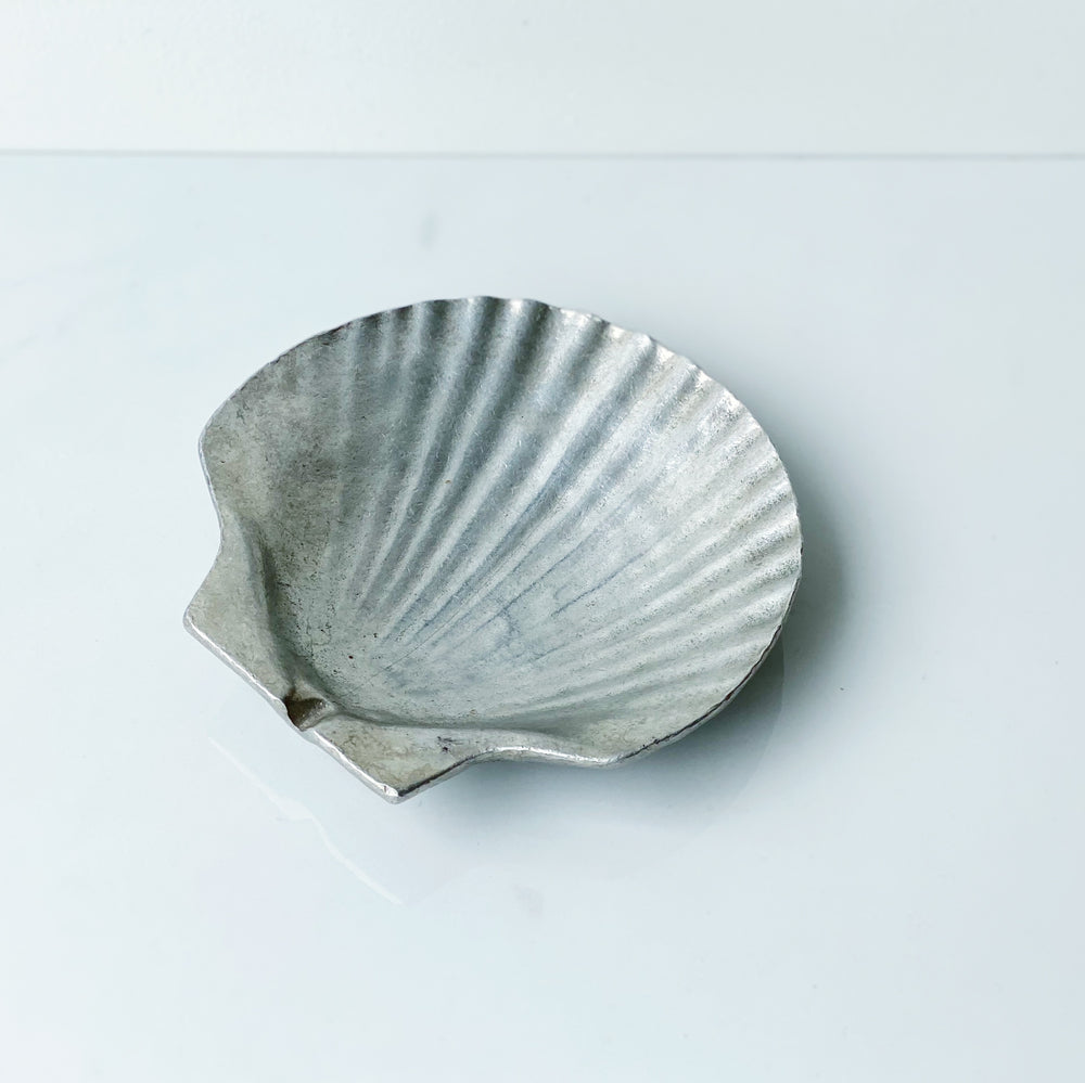 Pewter Shell Ashtray