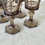 Smokey Brown Goblets (Set of 4)