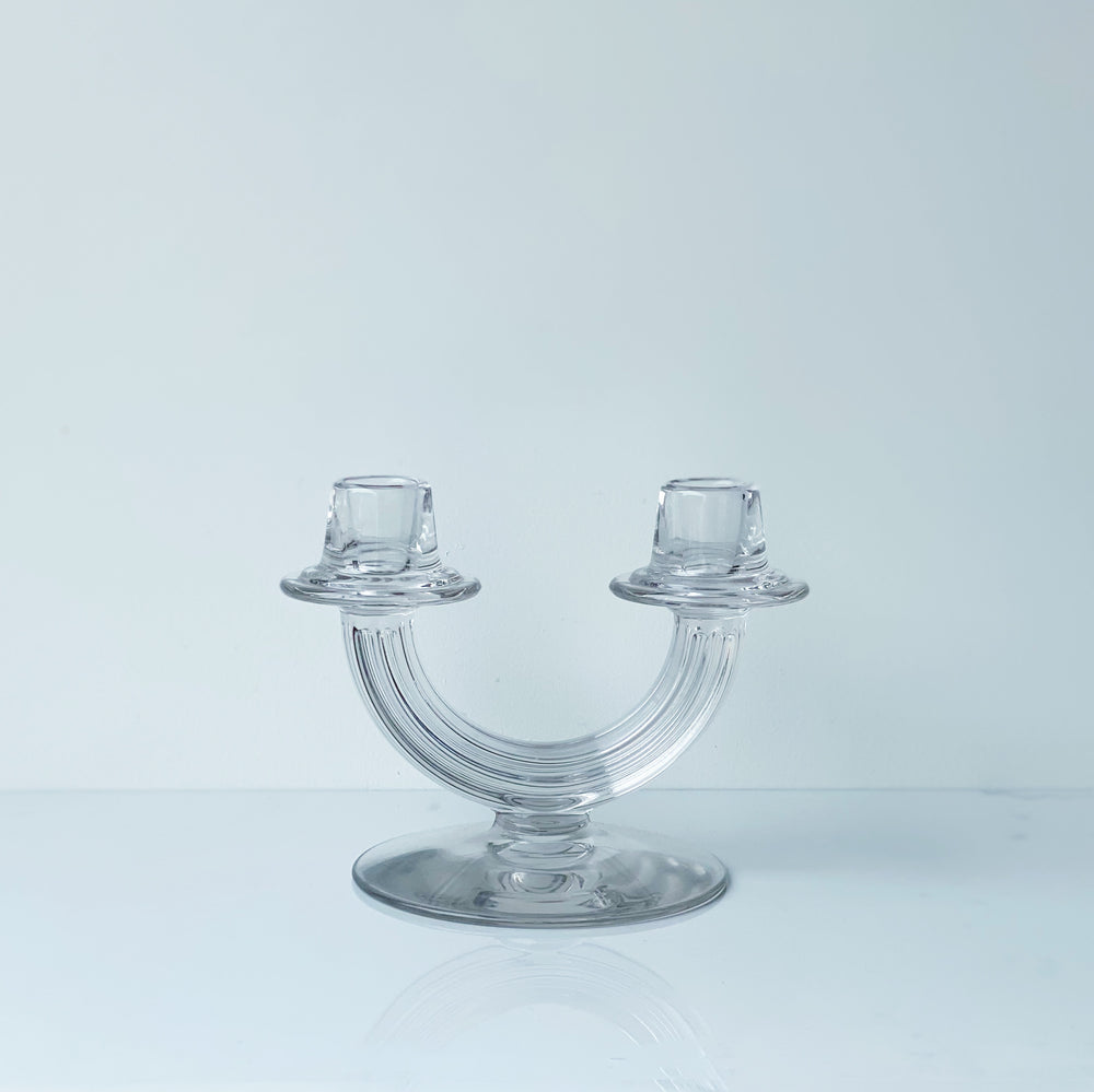 U-Shaped Glass Candle Holder