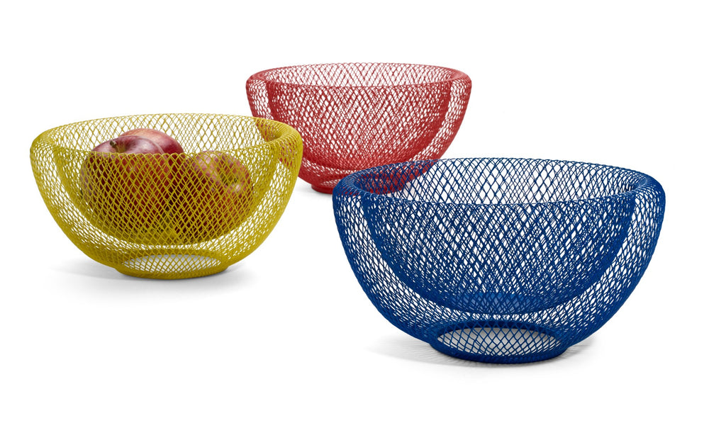 Wire Mesh Bowl - Blue